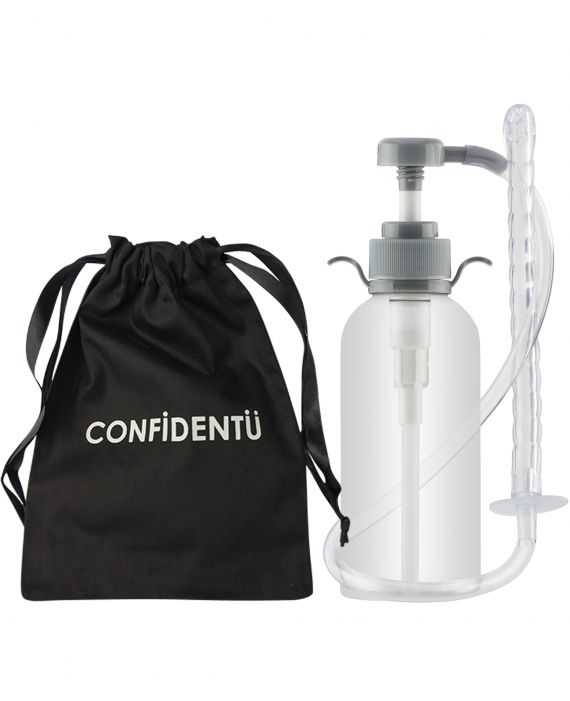 CLEAN Confidence Enema Pump Bottle 300ml Travel Kit